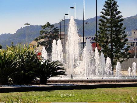Springbrunnen beim neuen Hospital Gandia