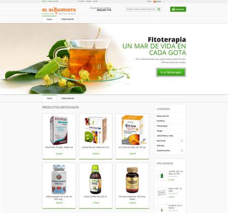 Página web Tienda on line Herbolario Alquimista Arrecife Lanzarote