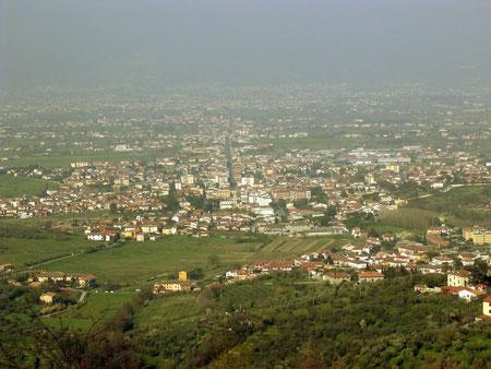 Quarrata vista dal Montalbano
