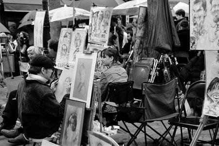 Place du Tertre à Paris.