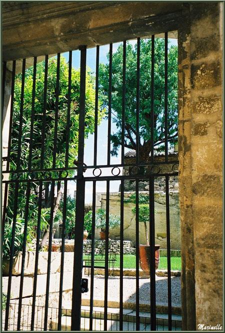 Un jardin derrière un portail de grilles - Goult, Lubéron - Vaucluse (84)