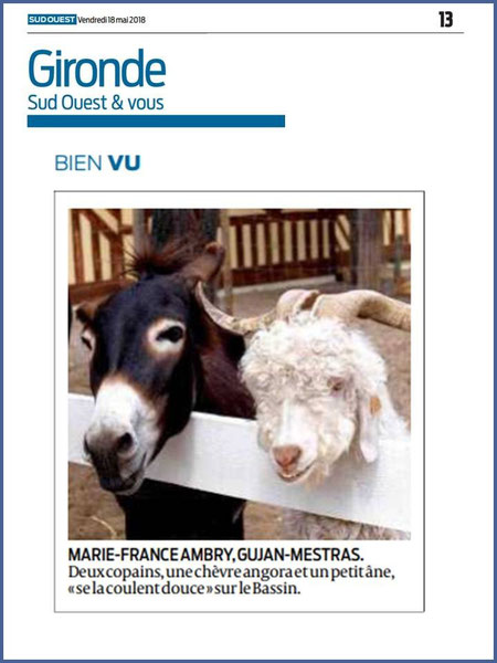 Photo Marinelle sur Journal Sud-Ouest, page Gironde, édition du 18/05/2018