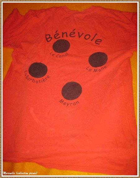 Gujan-Mestras autrefois : Tee shirt des bénévoles de la Foire aux Huitres en 2004, Bassin d'Arcachon (collection privée)