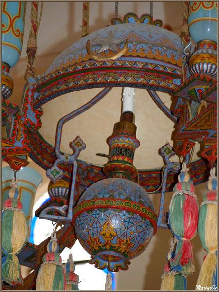 Chapelle Algérienne, détails du lustre,  Village de L'Herbe, Bassin d'Arcachon (33)