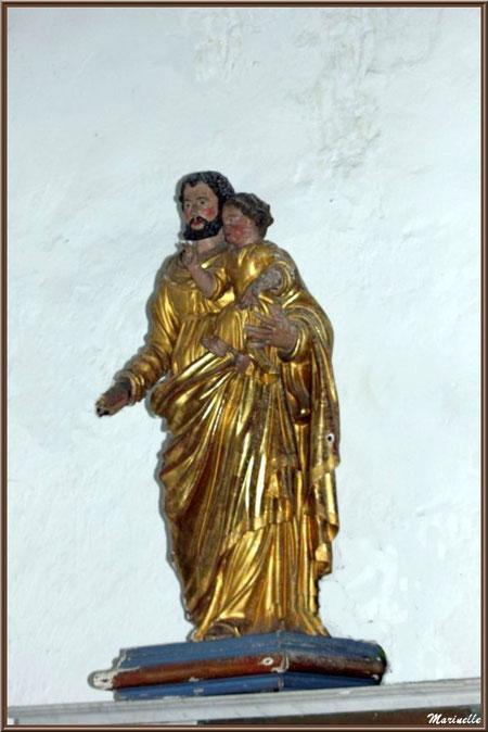 Statue de Saint Joseph à l'enfant à l'église Saint Sébastien - Goult, Lubéron - Vaucluse (84)