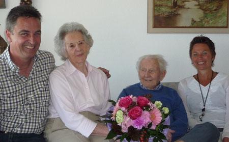 v. l.) Hans Zellner, Elisabeth Friedl, Otto Friedl, Barbara Beck