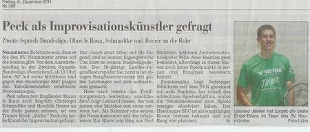 Vorbericht 4. Spieltag Kieler Nachrichten - 09.12.11