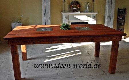 Indoor-Outdoor-Holz-Tisch