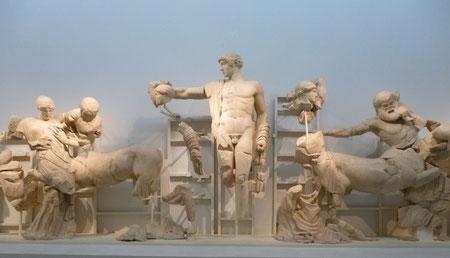 Fronton du temple de Zeus