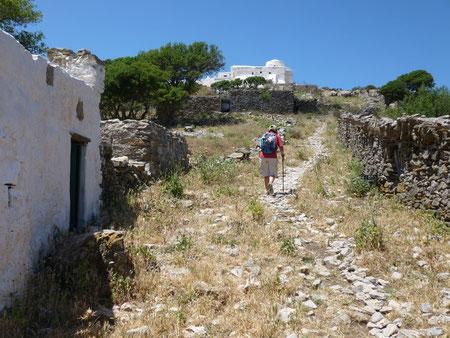 Vers le monastère d'Agios Theologos