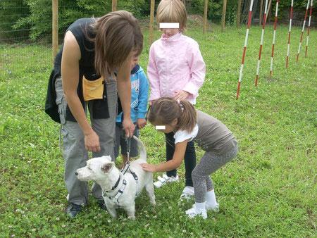 Bambini del Centro Estivo in visita