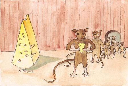 Ratten mit Käse