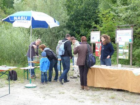 Umweltbildung: Informationsstand im Steinbruch Nußloch