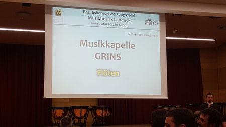 Musikkapelle Grins, Wertungsspiel 2017