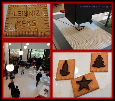 das weihnachtliche Foyer mit Keramikkeks - der 3D-Drucker bedruckt Leibnizkekse