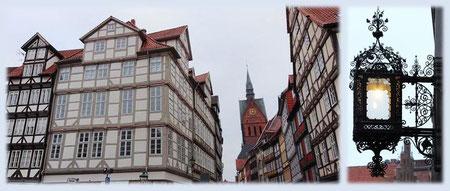 Hannovers Altstadt mit dem Turm der Marktkirche