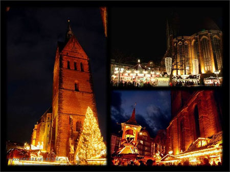 Weihnachtsmarkt rund um Hannovers Marktkirche