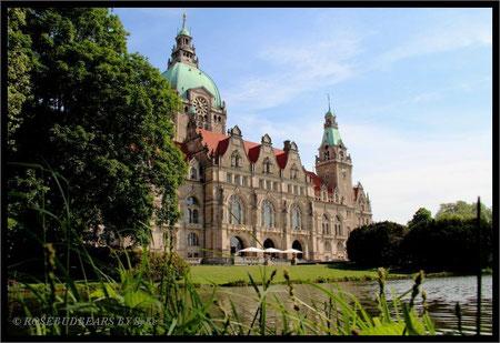 Das Neue Rathaus vom Maschpark aus