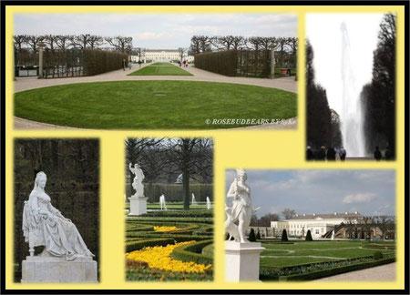 Großer Garten Herrenhausen mit Schloss, Große Fontäne, Gartengründerin Kurfürstin Sophie