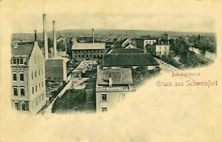 Bahnhofstr. um 1896 - heute Schultesstraße