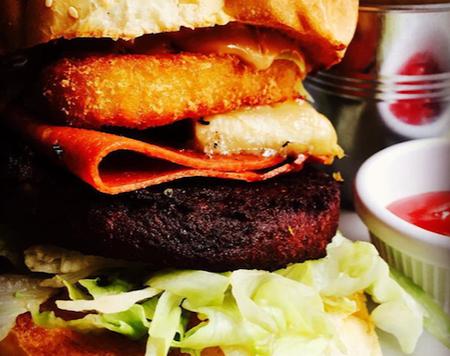 elvis burger at vbites