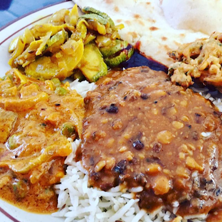 indian buffet at indian food and grocery
