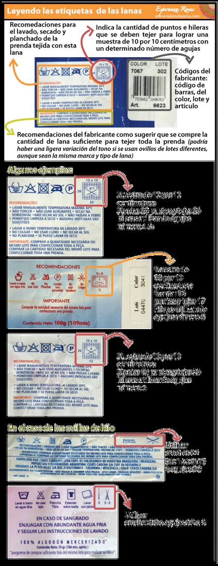 Cómo tejer en dos agujas o palitos: leyendo las etiquetas