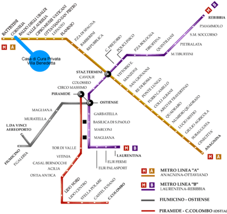 Metro fermata CORNELIA