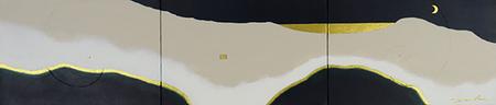 豊金雲山 2   999mm*220mm   P4*3   2021 acrylic on canvas, wood