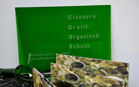 Mein Diplomprojekt....Flaschenrecycling der besonderen Art...Flaschenstelen