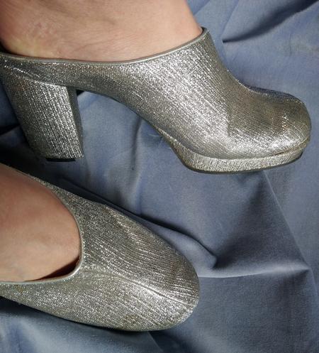Glittery disco shoes from flea market © GriseldaK 2019