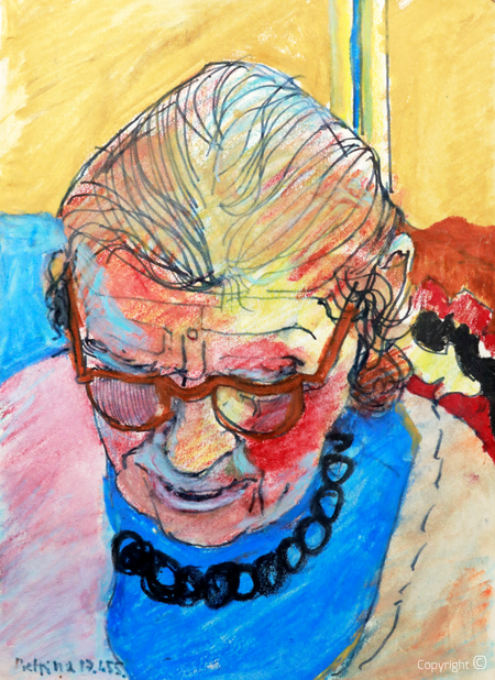 Bettina Heinen-Ayech (1937-2020): Erna Heinen-Steinhoff beim Lesen, 1955