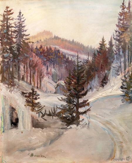 Erwin Bowien (1899-1972): Winterlandschadt im Adelegg Massiv bei Kreuzthal-Eisenbach, 1945