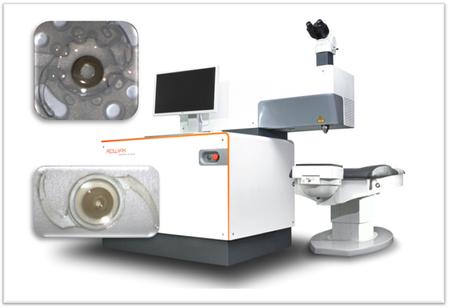 Laser zur Bearbeitung von IOLs (Femto-Masking)