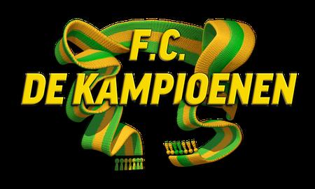 Logo F.C. De Kampioenen_Sjaal geel groen