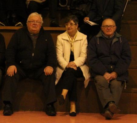 Les voici tous les 3 lors de la réception de Rodez, assis à côté comme par hasard...