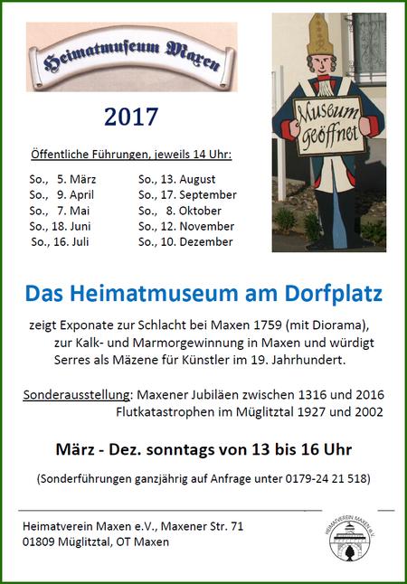 Plakat Heimatmuseum 2017 - J. Tronicke