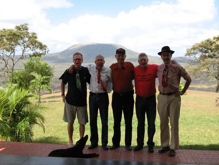 2008 In de tuin van Joop in Nicaraqua