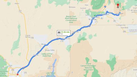 Vergrößern: in die Rundreise USA Westen klicken (Kartendaten © 2021 Google)