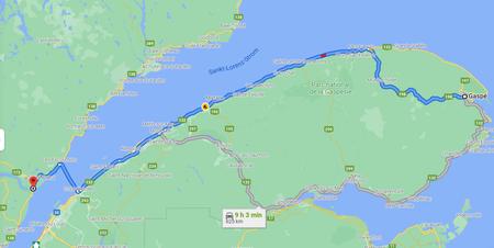 Kanada Reiseroute Osten  Etappe 5