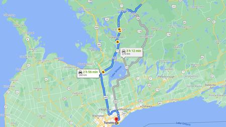 Kanada Reiseroute Osten  Etappe 10