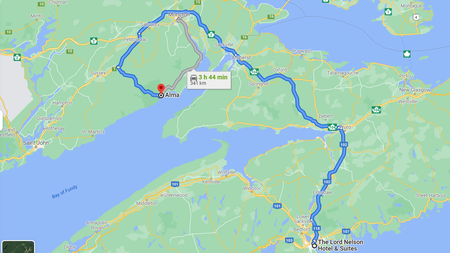 Kanada Reiseroute Osten  Etappe 2