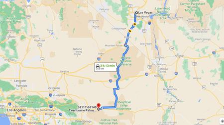 Zum Vergrößern in die Kalifornien Rundreise Route klicken (Kartendaten © 2021 Google)