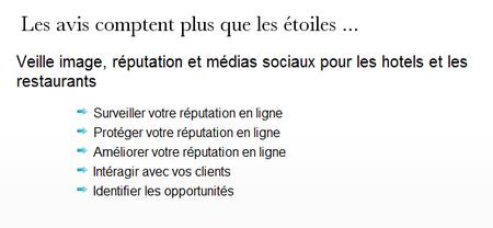 L'argumentaire de veille tourisme.fr