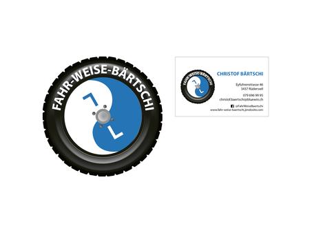 """Wir gestalteten Logo und Visitenkarten für die Fahrschule """"FAHR-WEISE-BÄRTSCHI"""""""