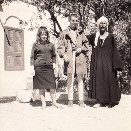 Treffen mit dem berühmten Scheich Ali in Luxor im Winter, 1962