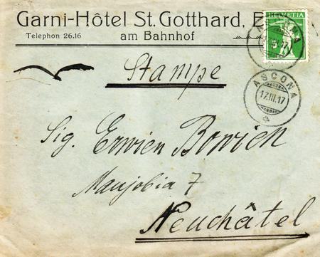 Brief von Adolph H. Neufeldt aus Ascona an Erwin Bowien im Haus Maujobia 07 in Neuchâtel im Jahr 1917
