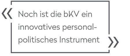 Konrad Seelig: Die bKV als personalpolitisches Instrument