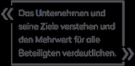 Cord Brockmann: Das Unternehmen und seine Ziele verstehen und den Mehrwert für alle Beteiligten verdeutlichen.