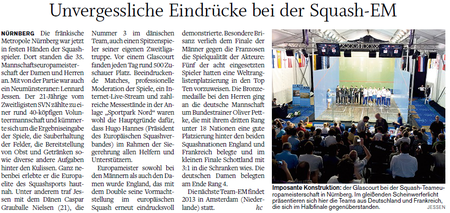 Nachbericht Team-EM 2012 Nürnberg, Holsteinischer Courier 12.05.12